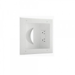 15A Multimedia Duplex Wall Plate w/ Surge Protection, 125V, White