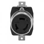 50 Amp Non-NEMA 250V DC/600V AC California Standard 2P3W Locking Receptacle