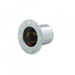 250V Standard Flanged Inlet, 3P4W Self Grounding