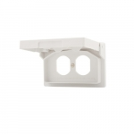 1-Gang Weatherproof Cover for Duplex Receptacles, Self-Closing, White