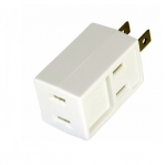 15 Amp Cube Tap, Three Outlet Box, NEMA 1-15R, White