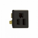 15 Amp NEMA 5-15R 125V Single Snap-in Receptacle, Plastic Back & Clips