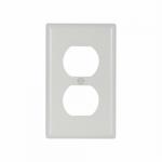 Standard Size Extra Depth Duplex Receptacle Thermoset Wallplate, White