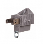 15 Amp Grounding Adapter, Box of 100, Grey