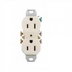 15 Amp NEMA 5-15R 125V Duplex Receptacle Outlet w/o Ears, Almond