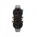 15 Amp NEMA 5-15R 125V Duplex Receptacle Outlet w/o Ears, Black