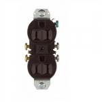 15 Amp NEMA 5-15R 125V Duplex Receptacle Outlet w/o Ears, Brown