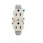 15 Amp NEMA 5-15R 125V Duplex Receptacle Outlet w/o Ears, Light Almond