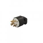 250V Locking Device Plug, Commercial Grade, 2P3W