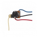 3/6 Amp Canopy Switch, Two-Circuit, Pull-Chain