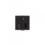 15 Amp Snap-In Plug w/ Steel Clips, 2-Pole, 3-Wire, 125V, Black