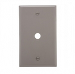 1-Gang Phone & Coax Wall Plate, Standard, Grey
