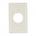 Standard Size Single Receptacle Nylon Wallplate, Almond