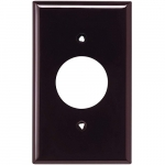 Standard Size Single Receptacle Nylon Wallplate, Brown
