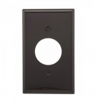 Standard Size Single Receptacle Nylon Wallplate, Black