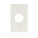 Standard Size Single Receptacle Nylon Wallplate, White