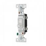 15 Amp Toggle Switch, CO/ALR, Standard, Single Pole, White