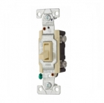 15 Amp Toggle Switch, CO/ALR, Standard, 3-Way, Ivory