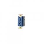 15 Amp Duplex Receptacle w/ LED Indicator, 2-Pole, 3-Wire, 125V, Blue