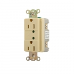 15 Amp Duplex Receptacle w/ LED Indicator, 2-Pole, 3-Wire, 125V, Ivory