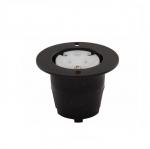 15 Amp Flanged Outlet, Corrosion Resistant, Black