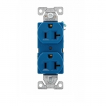 20 Amp Premium Duplex Receptacle, Blue
