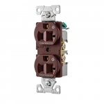 20 Amp Dual Controlled Duplex Receptacle, 2-Pole, #14-10 AWG, 125V, Black