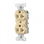 20 Amp Dual Controlled Duplex Receptacle, 2-Pole, #14-10 AWG, 125V, Light Almond