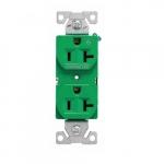 20 Amp Half Controlled Duplex Receptacle, 2-Pole, #14-10 AWG, 125V, Black