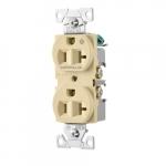 20 Amp Half Controlled Duplex Receptacle, 2-Pole, #14-10 AWG, 125V, Light Almond