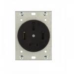 60 Amp NEMA 18-60R Flush Mount Power Device Receptacle
