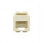 Cat 6 Modular Jack, 8-Conductor, Light Almond