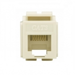 Cat 3 Modular Jack, 6-Conductor, Light Almond