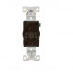 15 Amp NEMA 6-15R 250V Premium Single Receptacle, Brown