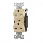 15 Amp 250V Construction Grade Duplex Receptacle, Ivory