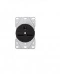 30 Amp NEMA 6-30R 250V Flush Mount Power Receptacle,Black