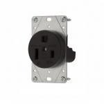 50 Amp NEMA 6-50R 250V Flush Mount Power Receptacle,Black