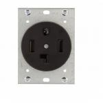 30 Amp NEMA 14-30R 125V-250V Flush Mount Power Receptacle