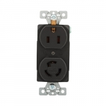 15 Amp Combination Locking & Straight Blade NEMA 5-15 125V Receptacle