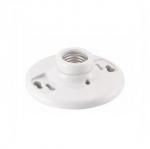 660W Lamp Holder, Keyless Switch, Pull Chain, White