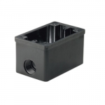 1-Gang FS Box, Non-Metallic, Cast Aluminum, Weatherproof, Black Finish