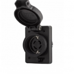 20 Amp NEMA 6-20R 125V Watertight Single Receptacle, Black