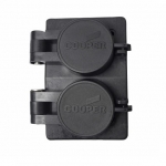 20 Amp NEMA 6-20R 125V Watertight Duplex Receptacle, Black