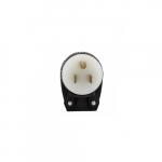 15 Amp Straight Blade Plug w/ Safety Grip, Angled, 2-Pole, 3-Wire, #18-12 AWG, 125V
