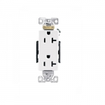 20 Amp Duplex Receptacle, 2-Pole, 3-Wire, 125V, #14-10 AWG, Light Almond