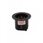 20 Amp Locking Flanged Inlet, 3-Pole, 4-Wire, 250V, Black