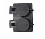 15 Amp Watertight Locking Duplex Receptacle NEMA L6-15 250V, Black