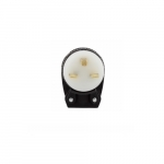 15 Amp Straight Blade Plug w/ Safety Grip, Angled, 2-Pole, 3-Wire, #18-12 AWG, 250V