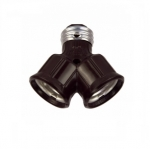 660W Lamp Holder, Polarized, Socket Adapter, Brown