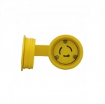 20 Amp Locking Connector, Watertight, Non-NEMA, Yellow